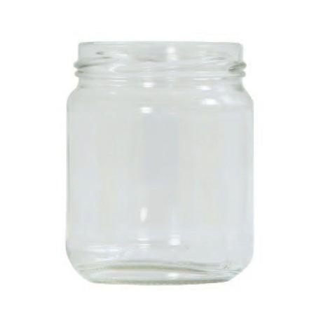 Carton de 40 pots de verre de 250 grammes lisse,ouverture TO63